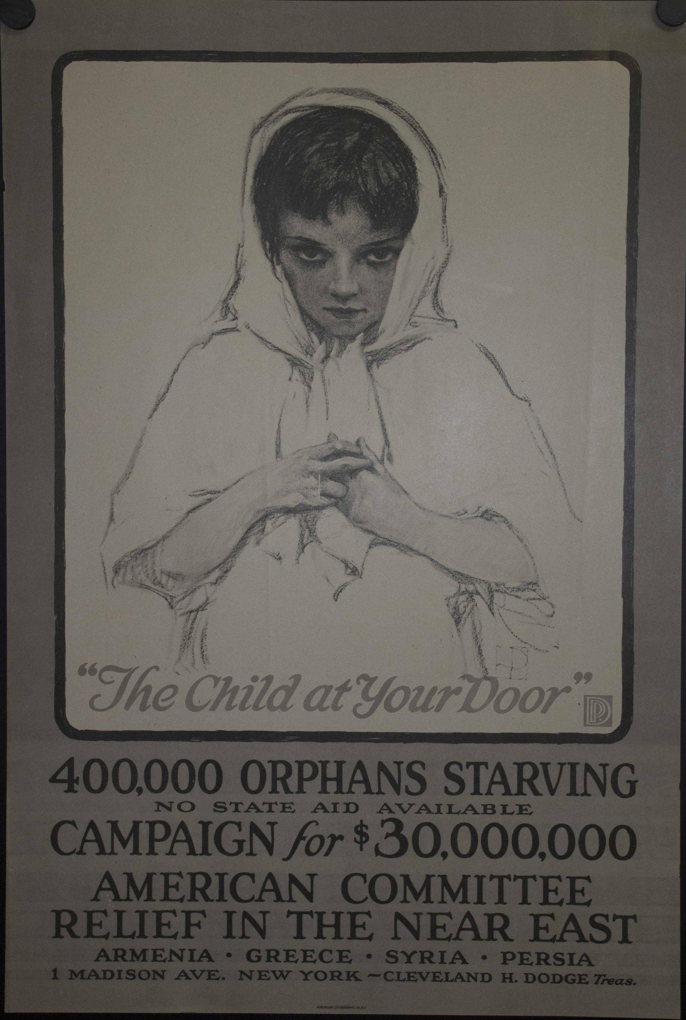 1917 The Child At Your Door Near East Relief
