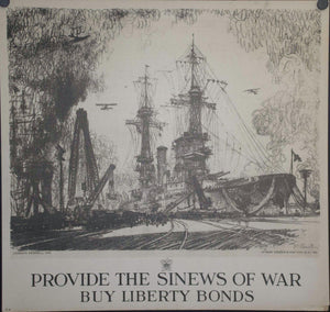 1918 Provide the Sinews of War Buy Liberty Bonds by Joseph Pennell