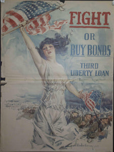 1918 Fight or Buy Bonds Third Liberty Loan by Howard Chandler Christy