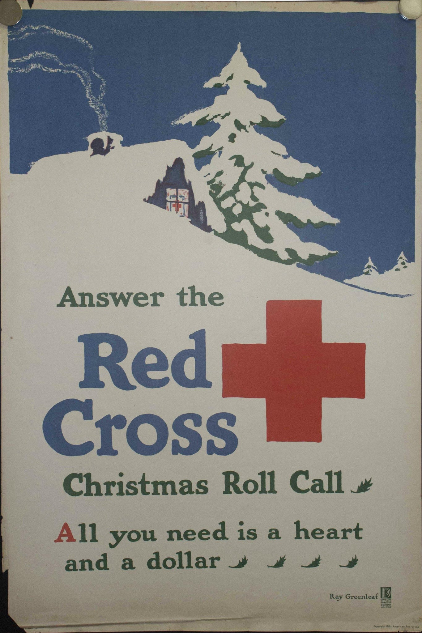 1918 Answer the Red Cross Christmas Roll Call by Ray Greenleaf