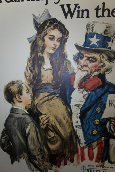 1917 Boys and Girls! You Can Help Your Uncle Sam Win the War | Buy War Savings Stamps