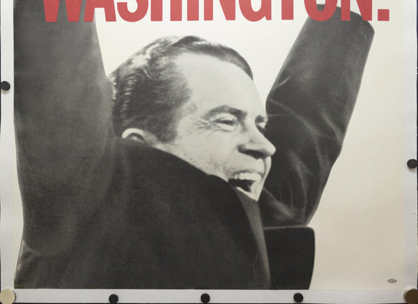 1968 NEXT STOP: WASHINGTON Richard Nixon Presidential Campaign Poster