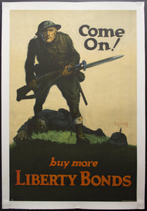 1918 Come On! Buy More Liberty Bonds by Walter Whitehead WWI