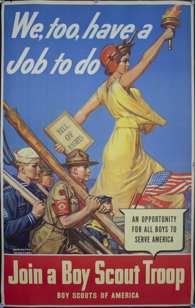 1942 We too, have a Job to do | Join a Boy Scout Troop | An Opportunity for Boys to Serve America