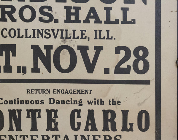 c. 1925 Dancing! at Ardison Bros. Hall with Sons of Syncopation - Golden Age Posters