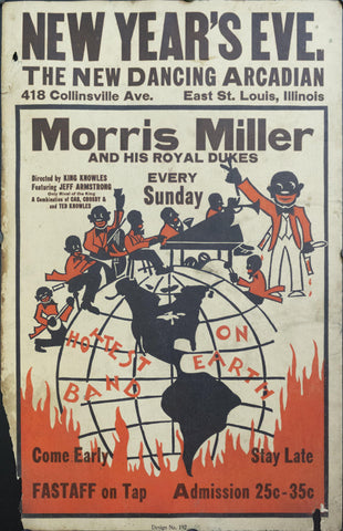 c. 1930s Morris Miller and His Royal Dukes | The New Dancing Arcadian - Golden Age Posters