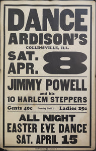 c. 1925 Dance Ardison's | Jimmy Powell and his 10 Harlem Steppers