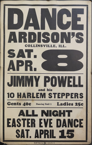 c. 1925 Dance Ardison's | Jimmy Powell and his 10 Harlem Steppers - Golden Age Posters