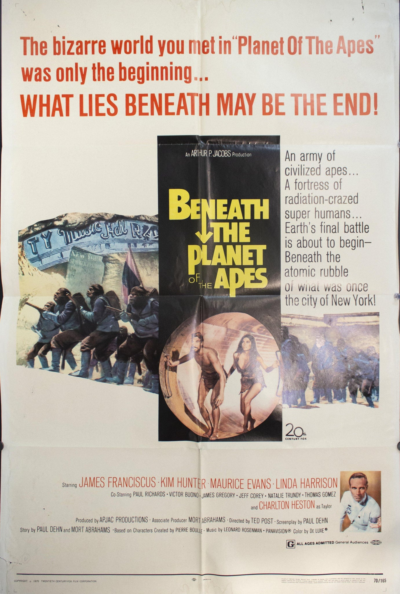 1970 Beneath The Planet Of The Apes - Golden Age Posters
