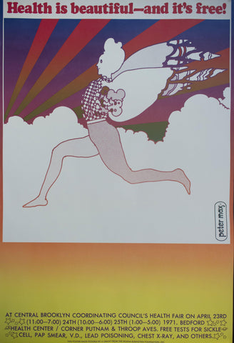 1971 Health Is Beautiful - And It's Free! Brooklyn Health Fair - Golden Age Posters