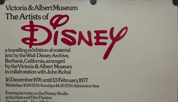 1976 The Artist of Walt Disney by the Victoria & Albert Museum