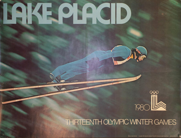 1980 Thirteen Olympic Winter Games Lake Placid Skiing