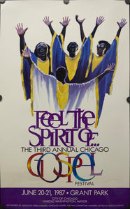 1987 Third Annual Chicago Gospel Festival - Golden Age Posters