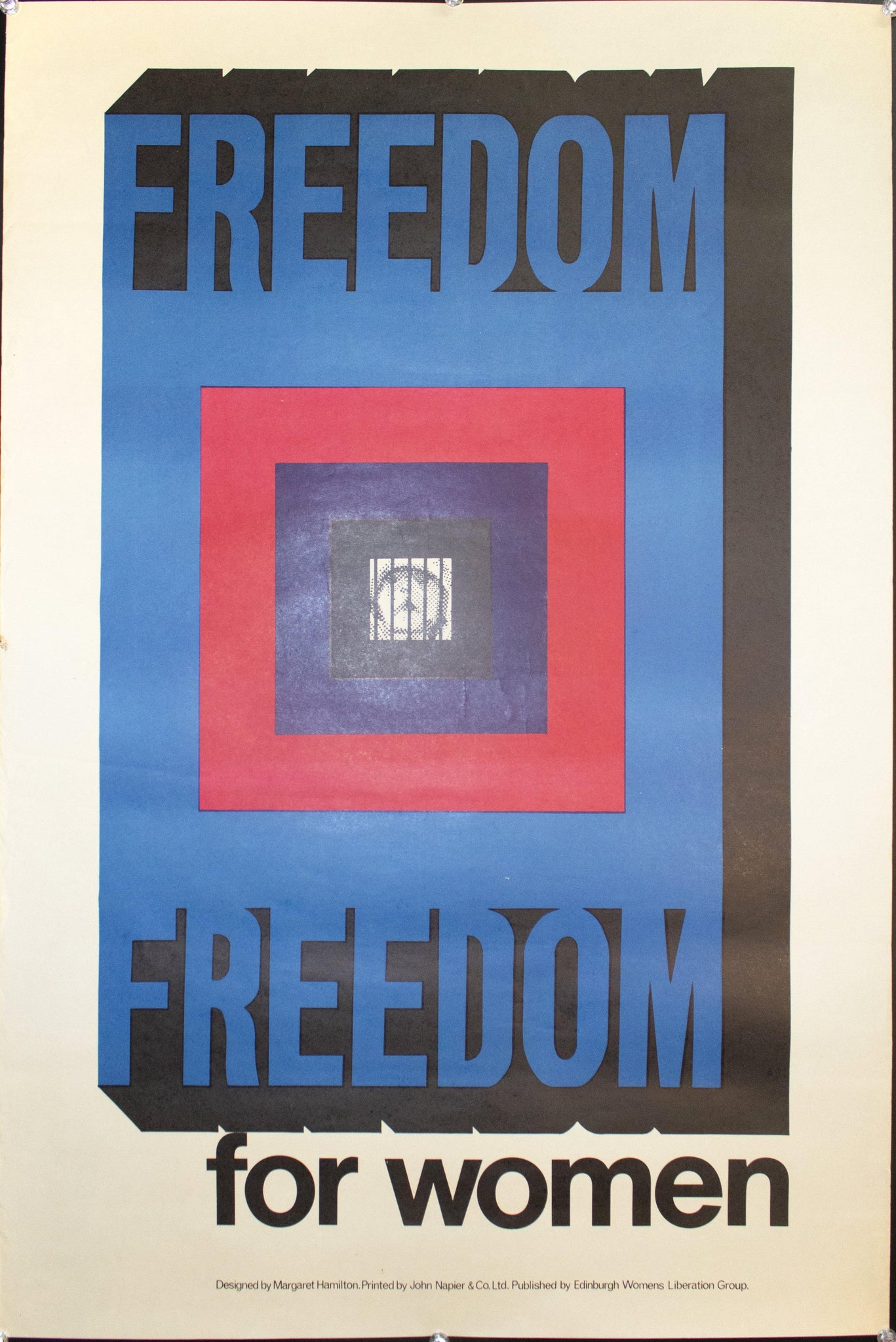 c. 1974 Freedom For Women by Margaret Hamilton
