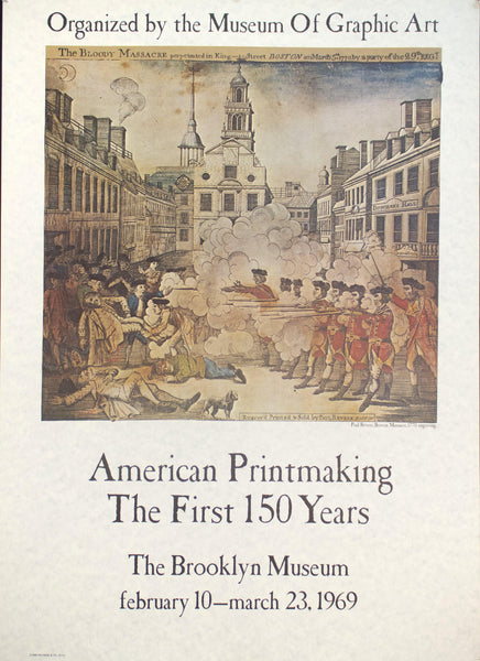 1969 American Printmaking - The First 150 Years Boston Massacre Brooklyn Museum