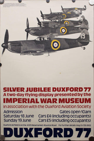 1977 Imperial War Museum Duxford 77 Flying Display - Golden Age Posters