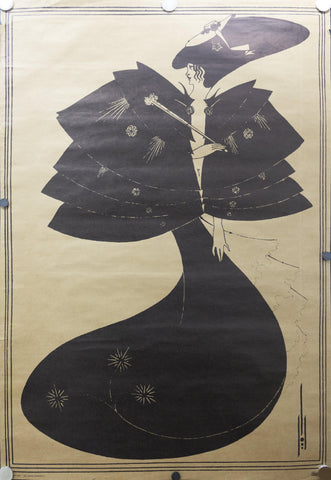 1973 The Black Cape by Aubrey Beardsley - Golden Age Posters