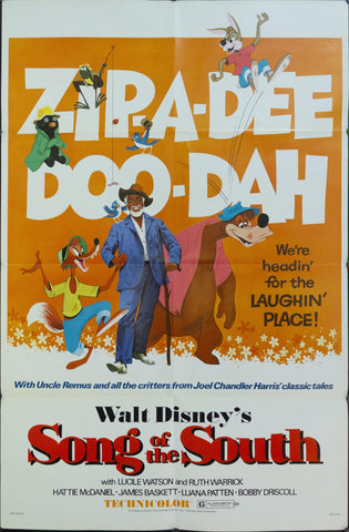1972 Walt Disney's Song of the South One Sheet