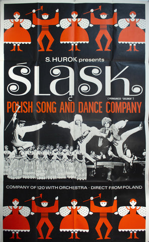 c. 1960 Slask Polish Song And Dance Orchestra by Sol Hurok