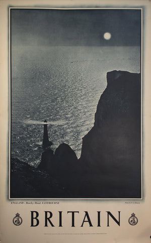 c. 1955 England Beachy Head Lighthouse Eastbourne by F. A. Bourne