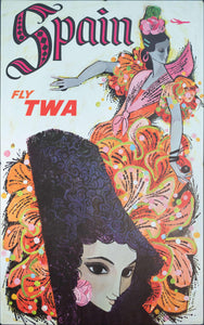c. 1960s Spain Fly TWA by David Klein