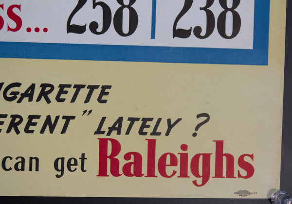 c. 1940s Raleigh Cigarettes Shortage