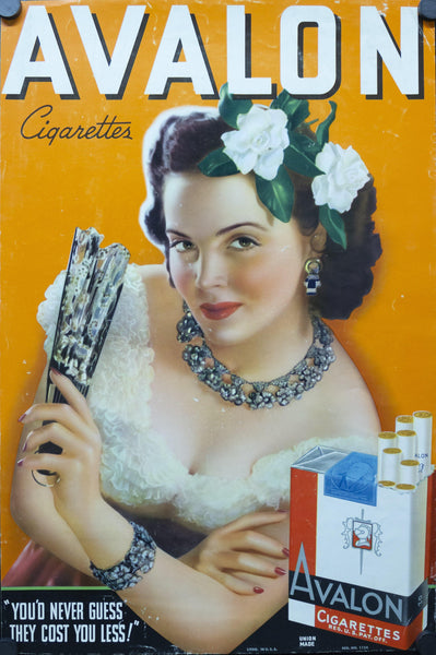 c. 1940s Avalon Cigarettes Pin Up Girl