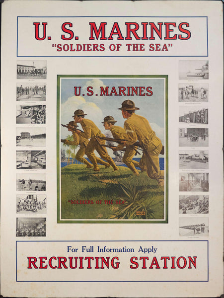 "1918 U.S. Marines ""Soldiers of the Sea"" - Golden Age Posters"