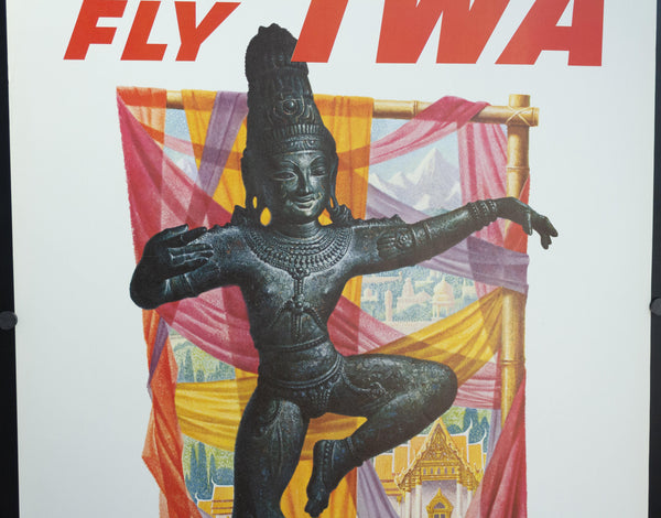 c. 1960s Fly TWA to The Orient by David Klien