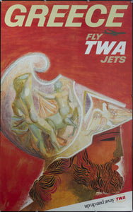 c. 1960s Greece Fly TWA Jets by David Klein