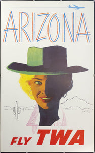 c. 1960s Arizona Fly TWA by Austin Briggs