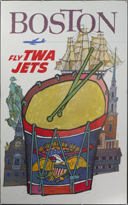 c. 1960s Boston Fly TWA Jets by David Klein