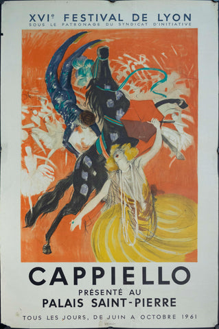 1961 Capiello Presente Au Palais Saint-Pierre French Art Exhibition