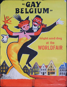 1958 Gay Belgium World Fair - Golden Age Posters