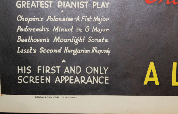 "1937 Ignacy Jan Paderewski ""Moonlight Sonata"" - Golden Age Posters"