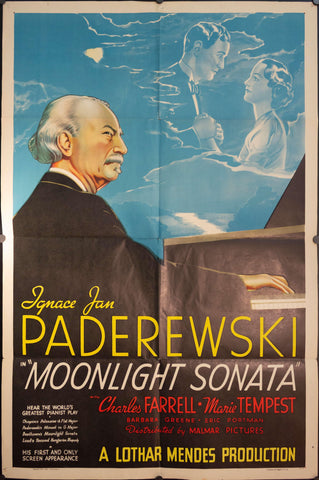 "1937 Ignacy Jan Paderewski ""Moonlight Sonata"""