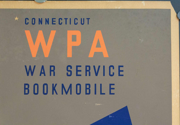 c. 1935 WPA Connecticut Be Informed Keep America Free | War Service Bookmobile