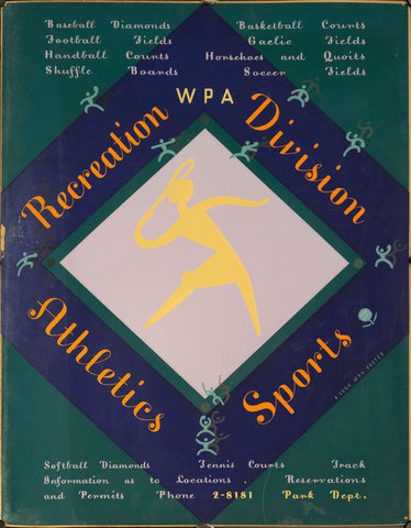 c. 1935 WPA Connecticut Recreation Division | Athletics & Sports - Golden Age Posters