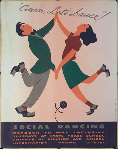 c. 1935 WPA Connecticut Social Dancing - Golden Age Posters