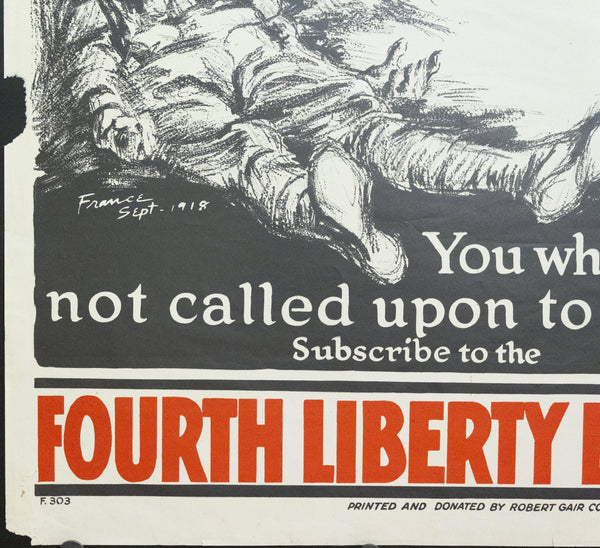 1918 Pvt. Treptow's Pledge Fourth Liberty Loan - Golden Age Posters
