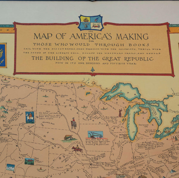 1926 Map of America's Making