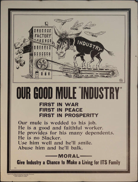 "1917 Our Good ""Mule"" Industry 