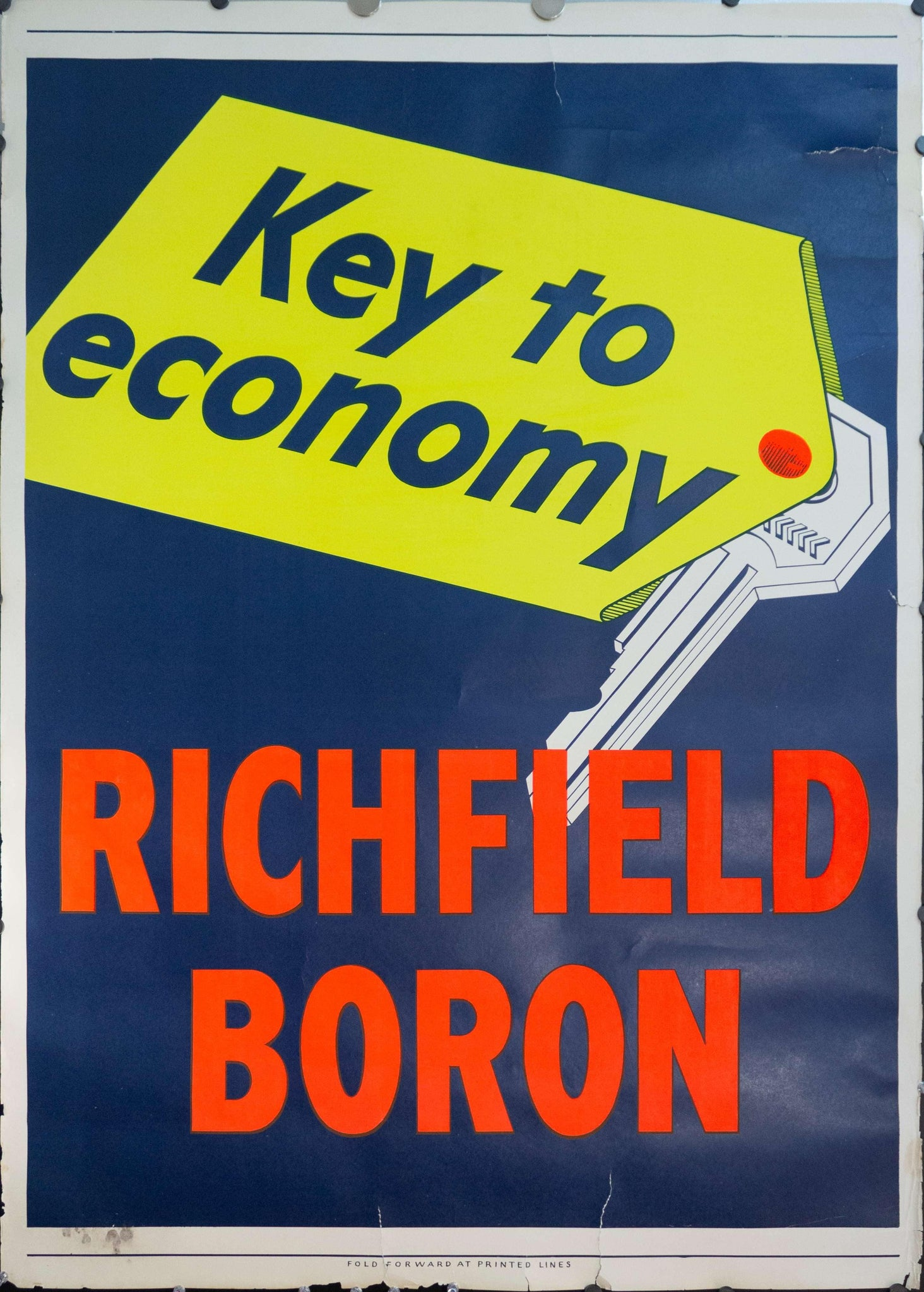 c. 1950s Key To Economy | Richfield Boron Oil
