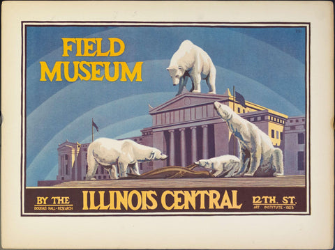 1925 Field Museum by the Illinois Central Polar Bear | Douglas Hall Research Art Institute - Golden Age Posters