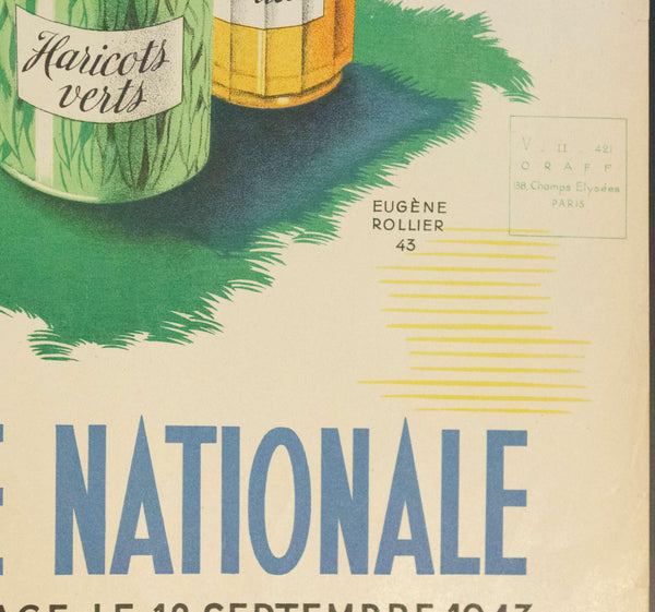 1943 Conserves Familiales Loterie National Au Profit Du Secours National | Loterie Nationale