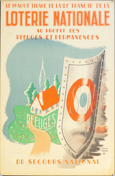 1943 Loterie Nationale Au Profit Des Refuges Et Permanences Du Secours National | Loterie Nationale