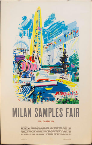 1958 Milan Samples Fair - Golden Age Posters