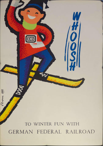 1959 To Winter Fun With German Federal Railroad