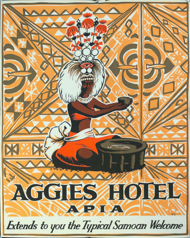 1950s Aggies Hotel | Apia | Extends To You The Typical Samoan Welcome
