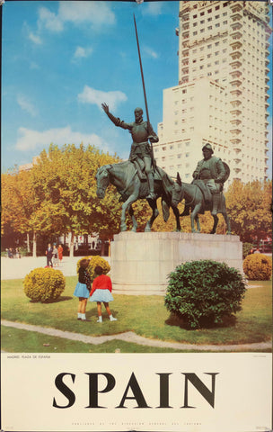 1950s Spain | Madrid, Plaza de Espana